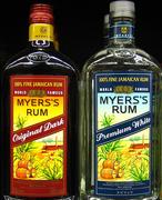 Myers's Rum Original Dark und Premium White Flaschen