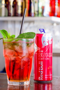 Pink Bangalow mit Red Bull Summer Edition Pink Grapefruit