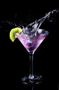 Cocktail in einem stilvollen Glas
